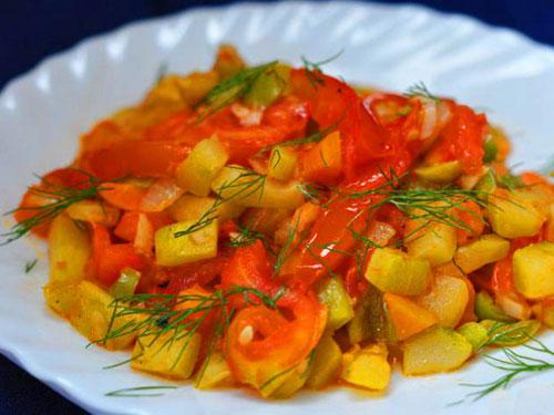 как сделать овощное рагу из кабачков и капусты